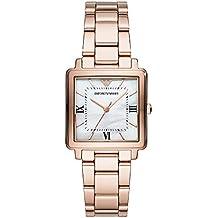 954868f634a8 Emporio Armani Reloj Analógico para Mujer de Cuarzo con Correa en Acero  Inoxidable AR11177