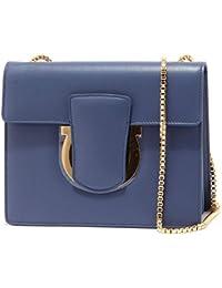 4c6ae93d50 Ferragamo 7021U borsa donna SALVATORE THALIA blue bag woman