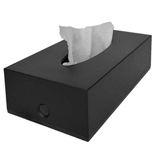 Kleenex - box Kreative rechteckige Plastik Zeichnung Karton einfache KTV Hotel Papier Handtuch Auto Tissue-Box ( Farbe : Schwarz ) (Papier-handtücher Personalisierte)