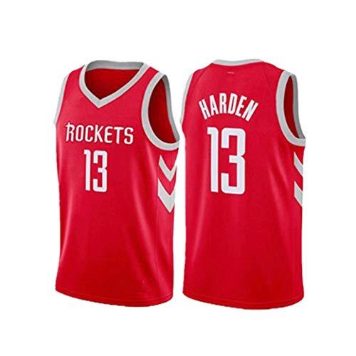 Aojing Jerseys del Baloncesto Masculino James Harden 13 Houston Rockets Nueva Tela Bordada Unisex Camiseta...