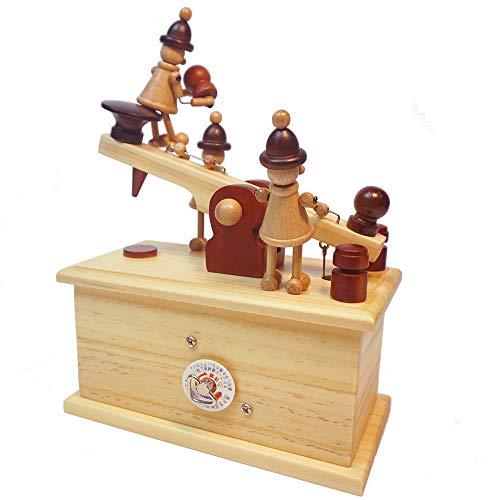 Yishelle Retro Vintage Drucker & Telegraph Pattern Spieluhr Spielzeug Hand-Holz Spieluhr Kreative Holz Handwerk Geschenke für Kinder, Geburtstag, Weihnachten, Valentinstag (Farbe : Telegraph)
