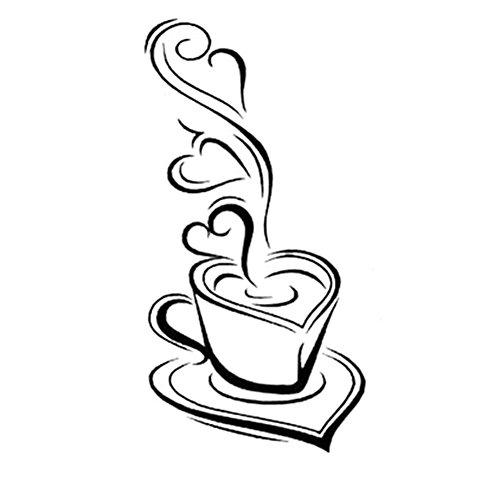 Kaffeetasse mit Herz Küche Café Esszimmer Und Restaurant ()