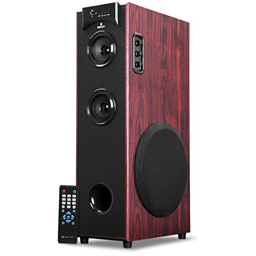 Zebronics Tower Speaker with Bluetooth, USB, FM, AUX, Micro SD and Remote Control - BT500RUF