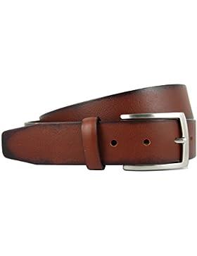 Cinturón de piel para hombre - Hecho a mano en España con piel de alta calidad - 3.5 cm de ancho