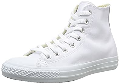Converse All Star Hi Lthr White Mono - 3 UK