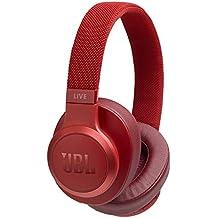 JBL LIVE 500BT Cuffie Sovraurali Bluetooth, Cuffie On Ear Wireless con Microfono, Assistente Google e Alexa, JBL Signature Sound, Leggere e Pieghevoli, fino a 30h di Autonomia, Rosso