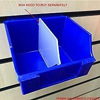 CompleteShopfittings NEW HEAVY DUTY STORAGE BOX SLATBOX SLATWALL STORBOX DISPLAY (Dividers, 1)