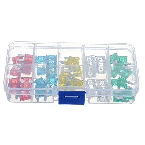 Preisvergleich Produktbild Viviance 50 Pcs 10A Bis 30A Mini-Größe Auto-Versicherung Tablets Fuse Kit Kfz-Versicherung Tabletten Klinge