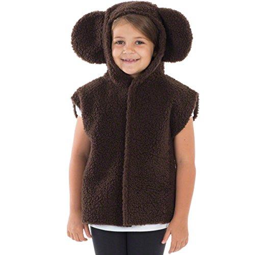 Unbekannt Charlie Crow Dunkelbrauner Bär Kostüm Für Kinder - Einheitsgröße 3-8 ()