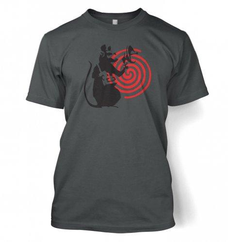 Radarratte Banksy Männer T-Shirt Dunkelgrau