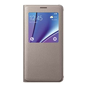 Samsung S-View Etui en PU pour Samsung Galaxy Note 5 Or