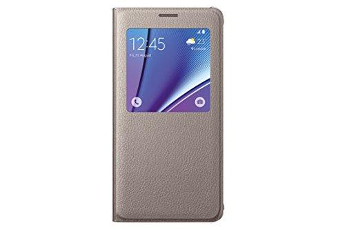 Samsung S View Cover - Funda para Samsung Galaxy Note 5, Oro