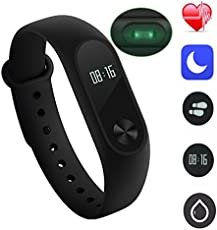 Josa M2 Smart Band with Heart Rate Sensor Features and Many Other Impressive Features, Water Proof Or Sweat Free Compatible with All Device (Black)