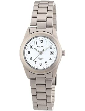 Regent Damen-Armbanduhr XS Analog Quarz Titan 12290254