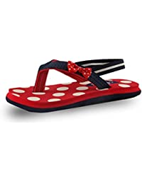Beanz Pearls Red/Navy EVA Flip Flops For Girls Size 23 EU