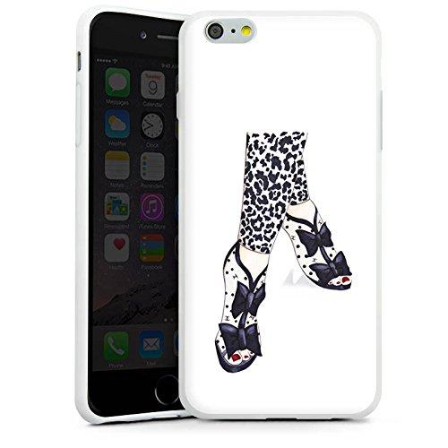 Apple iPhone X Silikon Hülle Case Schutzhülle Schwarz Schuhe marenkruth Silikon Case weiß
