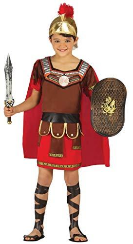 Fancy Me Jungen Römischer Centurion grichischer Soldaten Armee Krieger Gladiator historische büchertag Kostüm Kleid Outfit - Rot, Rot, 7-9 Years