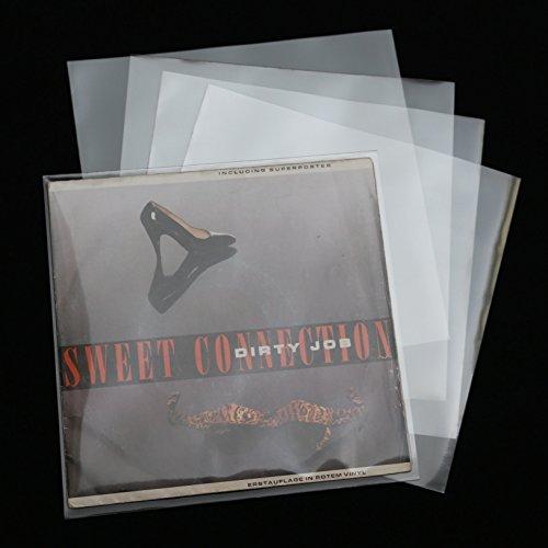 1000 Stück XL 195x195 mm Single Cover Schallplatten Schutzhüllen 100 mµ Glasklar hochtransparent