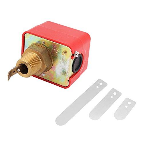 Akozon Paddel Typ Durchflusskontrolle SPDT R3 / 4 Flüssigkeit Wasser Öl Sensor Steuerung Automatische Paddel Durchflussschalter Schalter Automatische Flüssigkeit Wasser Öl Durchflussschalter 15A 250 V -