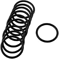 sourcingmap® 10 Pezzi Gomma Nera Guarnizione Olio O-Ring Guarnizione guarnizione Rondelle 22mm x 2mm