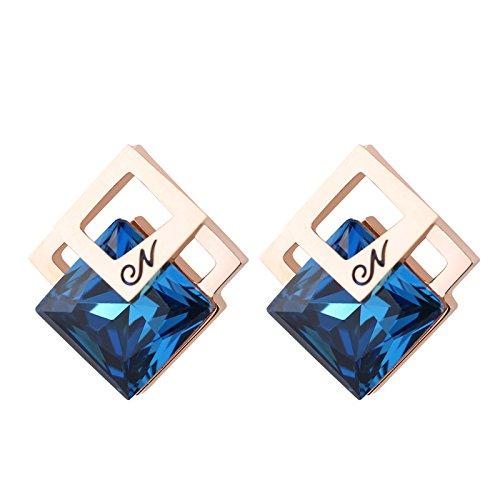 AI.NI Múltiples capas de pequeño diamante Elegante y versátil explosivo Crystal Flash Professional sexy moda femenina aretes de uñas de oreja