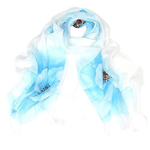 Distressed Weißen Handtuch Halter (Schal,WINWINTOM 1PC Mode Leopard-Art Verpackungs-Dame-Schal Chiffon Schal (Himmel blau))