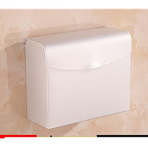 Spazio alluminio carta velina titolare/Tessuti/Box/Vassoio di servizi igienici bagno/ carta impermeabile-D