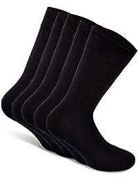 Snocks Herren & Damen Business Socken (5x Paar) Gr. 39-50 (Farben: Schwarz, Blau, Braun, Grau) - Baumwolle