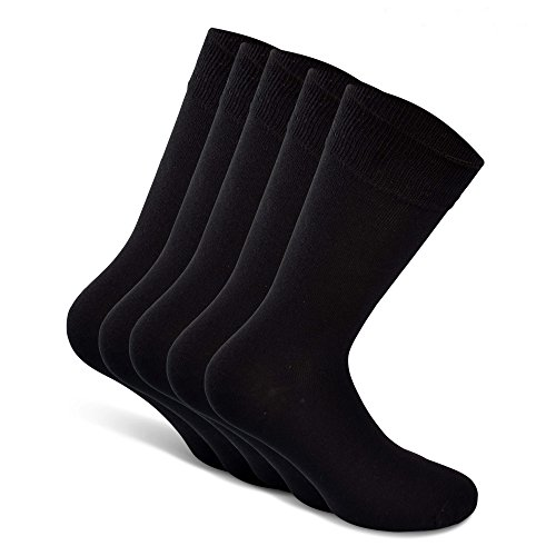 b2077538a Snocks Mens Cotton Socks Black Size 9-11 Dress Socks Men UK 9 10 11