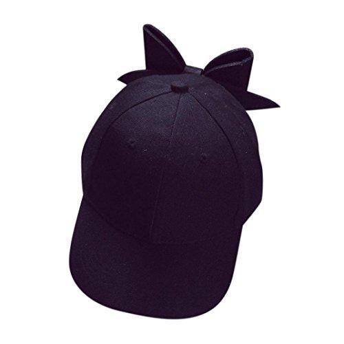 Baseball Cap,Sannysis Weibliche Bow Snapback Hiphop Cap (Schwarz)