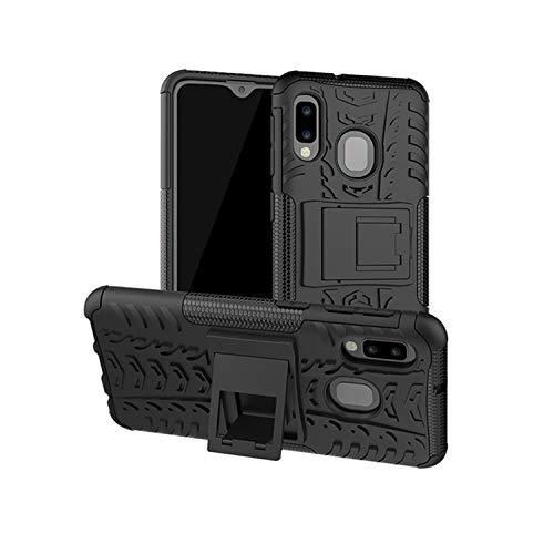 betterfon | Outdoor Handy Tasche Hybrid Case Schutz Hülle Panzer TPU Silikon Hard Cover Bumper für Samsung Galaxy A20e SM-A202 Schwarz Hard Silikon