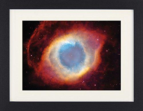 1art1 113935 Der Weltraum - Der Helixnebel, Das Auge Gottes Gerahmtes Poster Für Fans Und Sammler 40 x 30 cm