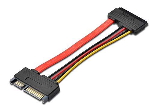 Haube-pin-kabel (PremiumCord SATA-Verlängerungskabel, SATA 22pin / M - SATA 22pin / F)
