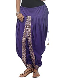 Nika Women's Cotton Hand Block Printed Dhoti Salwar_Blue