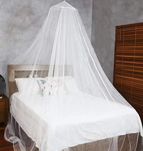 Amaes zanzariera a cupola universale, protezione contro le zanzare e mosche, facile installazione cupola design, per letto singolo, letto matrimoniale, amaca e lettino - bianco