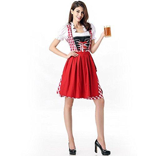 c Retro Oktoberfest Kostüme Sexy Charming Beer Festival Dress (Bardame Kostüme)