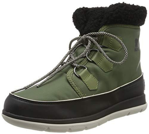 Sorel Explorer Carnival, Botas para Mujer, Verde Hiker Green/Black 371, 39 EU