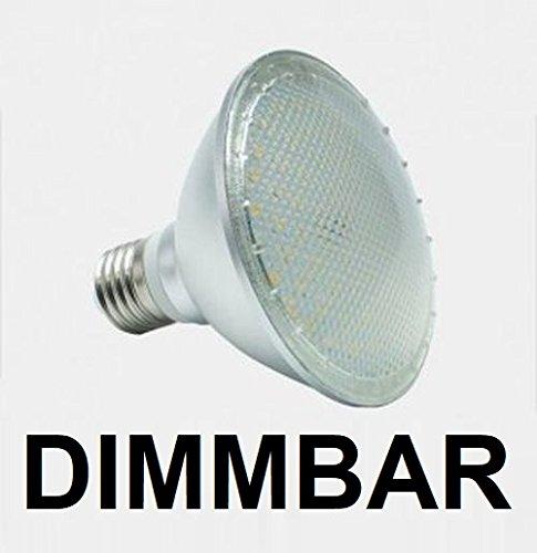 30 LED Lampe, Strahler, Fassung E27, Lichtfarbe warmweiß 2700 Kelvin, 120° Ausstrahlwinkel, 1050 Lumen entspricht ca. 100 Watt Glühlampe. Schutzklasse IP44 für Innen und Außen ()
