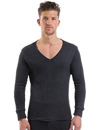 2COZEE® Mens/Gentlemens Thermal Underwear V Neck Long Sleeve Vest Interlock 8 X 1 Various Colours & Sizes