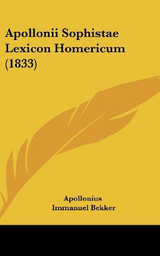 Apollonii Sophistae Lexicon Homericum (1833)