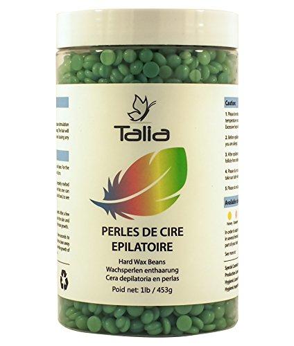 Talia® - Wachsperlen enthaarung - Hard Wax Beans - 453g - Bein, Arm, Achsel, Bikinizone, Intim, Gesicht, Augenbrauen und Rückenepilation - Ohne Streifen - Profiqualität für zu Hause - Tea Tree