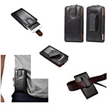 "DFV mobile - Magnetic Genuine Leather Holster Executive Case belt Clip Rotary 360º for => VPHONE I6 4.7 "" > Black"