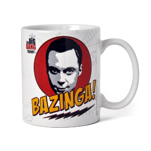 original The Big Bang Theory Mug Kaffeetasse Sheldon Bazinga FACE Tasse
