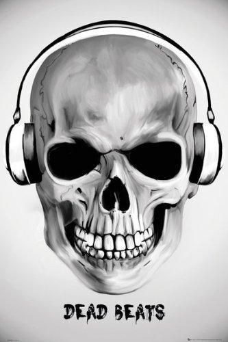 Dead Beats–Póster de calavera–91,5x 61cm