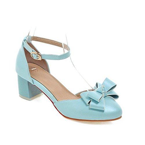 Adee Damen Bögen romanischen Stil Polyurethan Pumpen Schuhe Hellblau