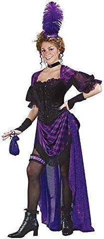 Saloon Fille Costume Violet - Femmes 6 Piece Violet Fille Saloon Bordel