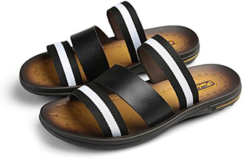 QIDI Sandali Stagione Estiva Di Di Di Gomma Maglia Slittata Indossare Traspirante Moda Pantofole (Coloreee   T1, dimensioni... | Forma elegante  581a31
