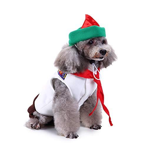 Amakunft Oktoberfest Sweety Haustier Anzug mit Hut, Hund Party Kostüm Festival Welpen Kleid Kleidung mit Schleife & Spitze für Weihnachten