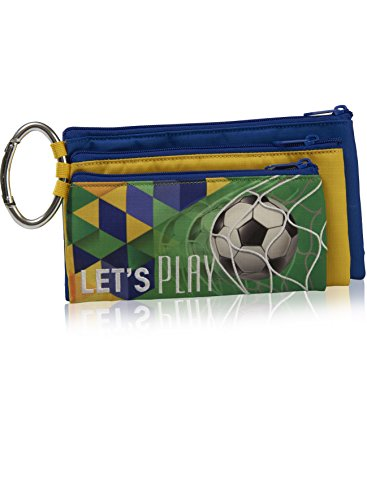 Triplo Deluxe Pencil Case staccabile Yellow & Blue