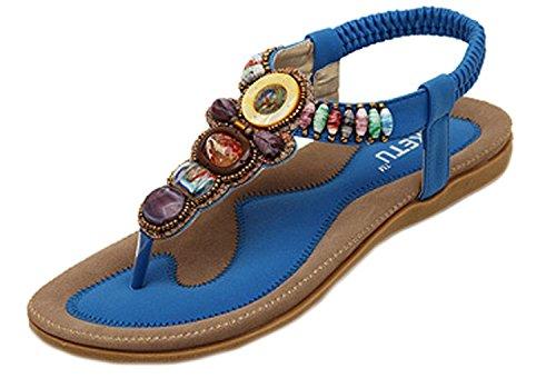 Minetom®, Sandalias Azules Para Mujer
